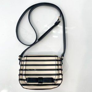 Kate Space Chelsea Park Striped Patent Crossbody